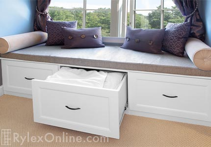 Window Seat With Deep Drawers Built In Storage Warwick