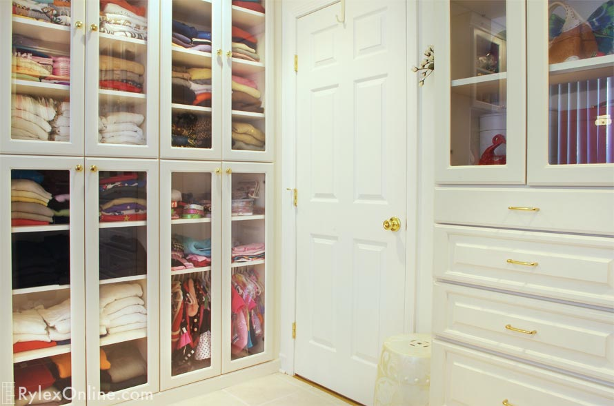 Closet Cabinets With Full Length Gl Door Bedroom Drawers
