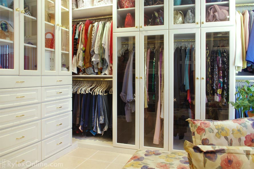 Cabinets With Glass Doors Bedroom Closet Middletown Ny