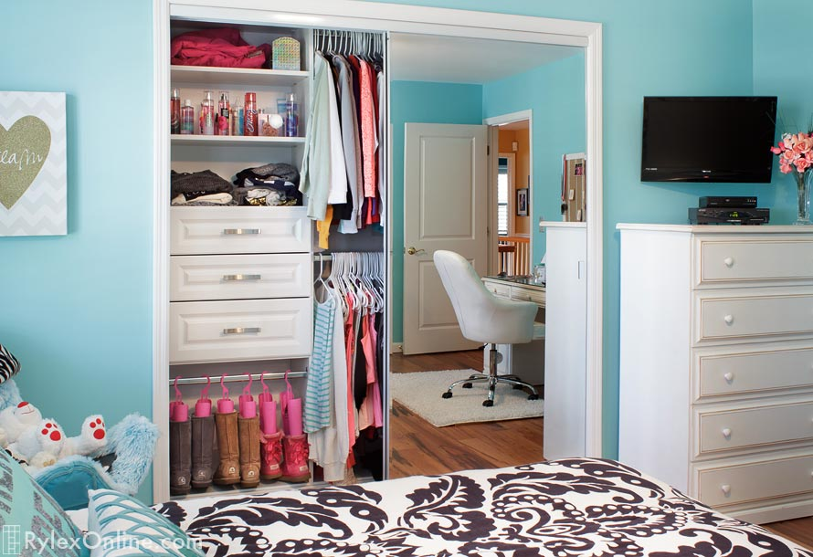 Teenage Girls Closet With Boot Storage Hopewell Junction Ny