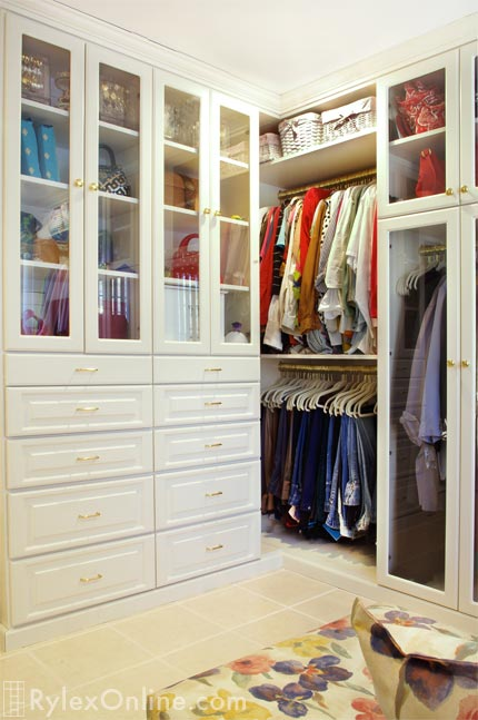 Cabinets With Gl Doors Bedroom Closet Middletown Ny