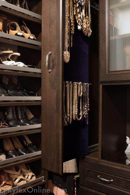 Narrow Jewelry Cabinet Necklace Storage Slim Profile