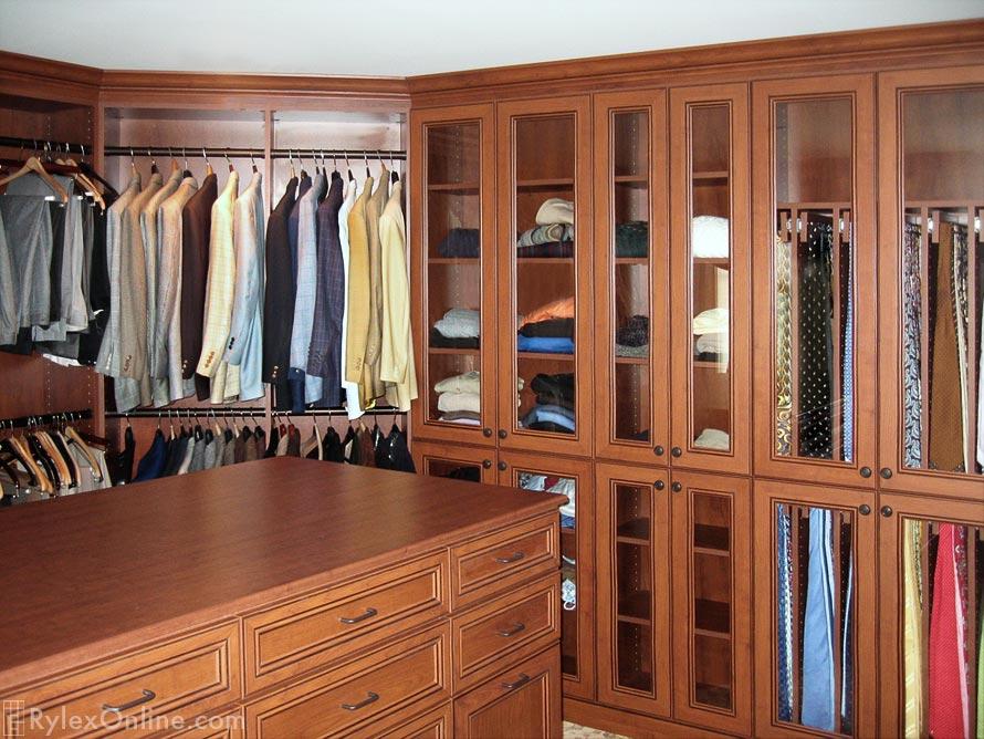 Master Walk In Bedroom Closet With Tv Orange County Ny