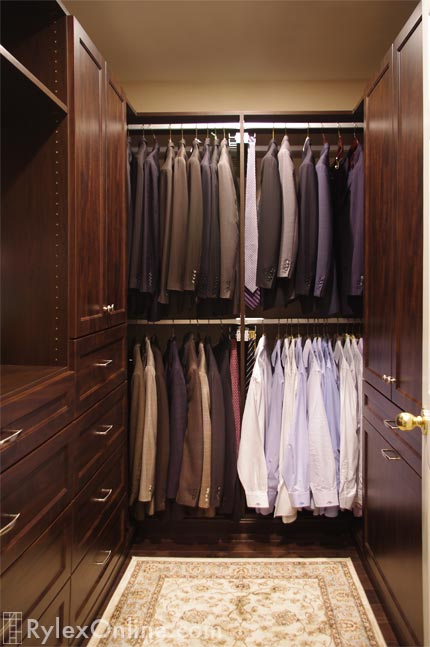Men 39 s walk in closet adjustable shoe shelves warwick ny - Mens walk in closet ...