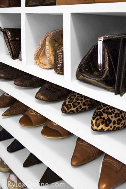 Shoe Organization Purse Closet Open Shelves For