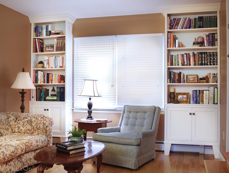Bookcase Cabinets Open Shelves Closed Cabinet Orange