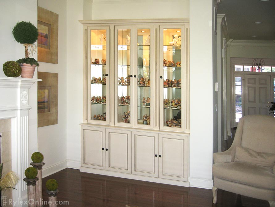 Collectible Cabinet Custom Built Window