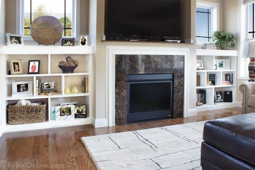 Fireplace Surround Shelves Built In Open Shelves