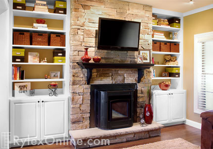 Fireplace Pellet Stove Surround Fireplace Cabinets