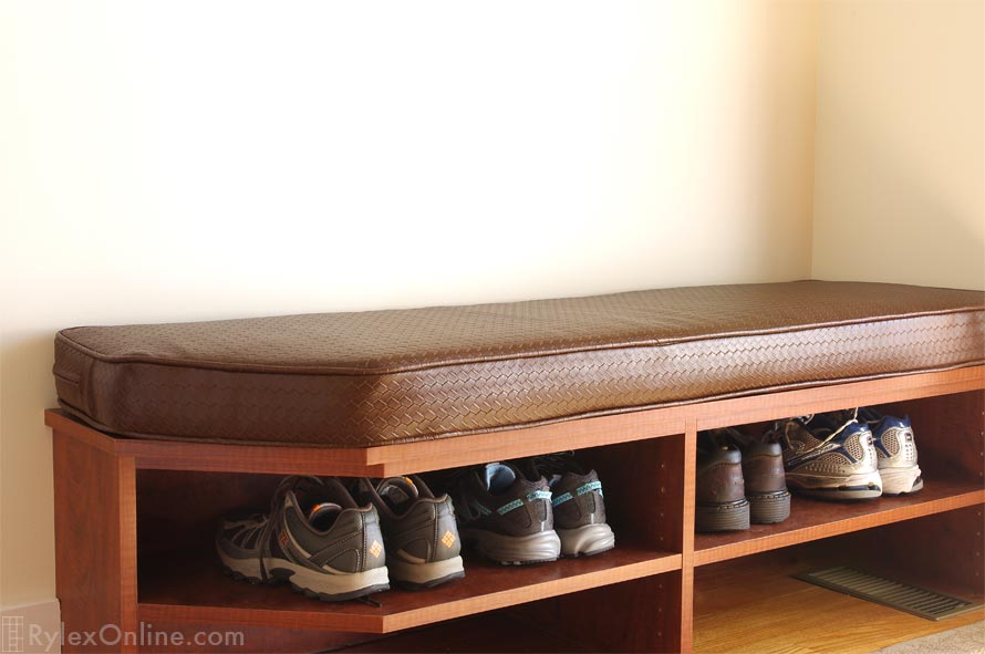 Cushioned Shoe Storage Bench