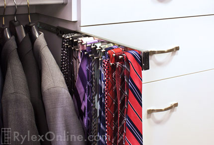 Sliding Custom Tie Rack