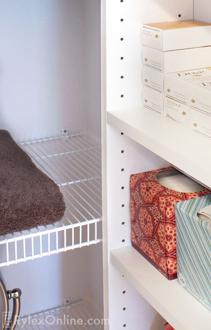 Adjustable Linen Closet Shelving Yorktown Organizing