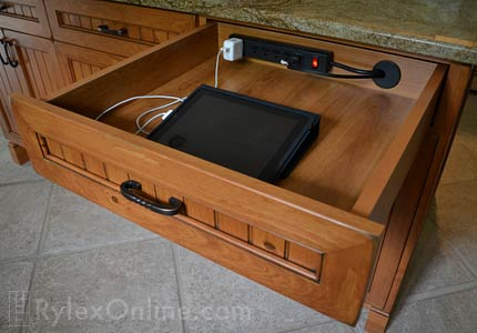 Cell Phone Charging Drawer Tablet Orange