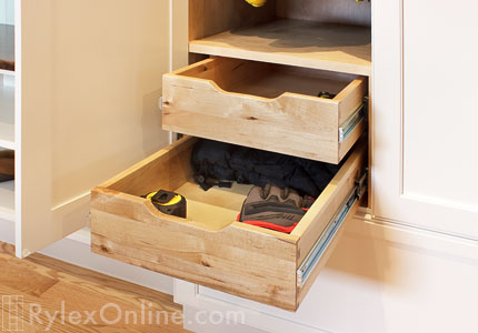 Finger Pull Drawer Expand Small Back Cabinet Shelf