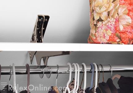 Closet Rod Bracket For Angled Sloped Ceiling Dandk Organizer