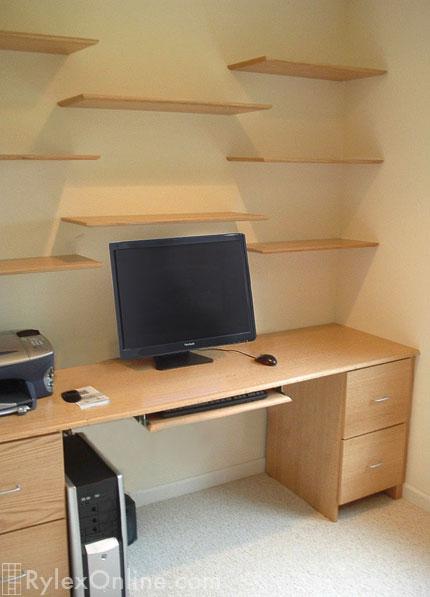 Astonishing Solid Oak Home Desk Floating Office Shelves Warwick Download Free Architecture Designs Estepponolmadebymaigaardcom