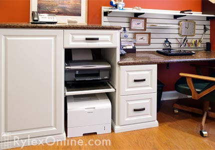Printer Pullout Cabinet With Desk New City Ny Sliding Shelf