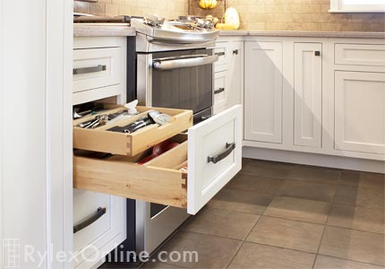 Cutlery Drawer Kitchen Drawer Divider Double Drawers