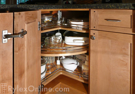 Chef Sidelines Three Quarter Round Lazy Susan Corner Cabinet