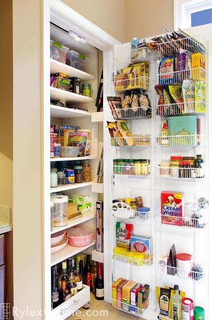 Kitchen Pantry With Door Rack