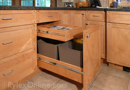 Kitchen Recycle Pullout Cabinet