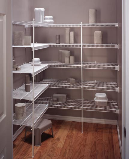 Shelving Ideas For Pantry Corner Pantry Shelving Systems: Kitchen Closet Shelving