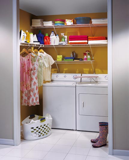 Laundry Wire Shelving Closet Pine Island