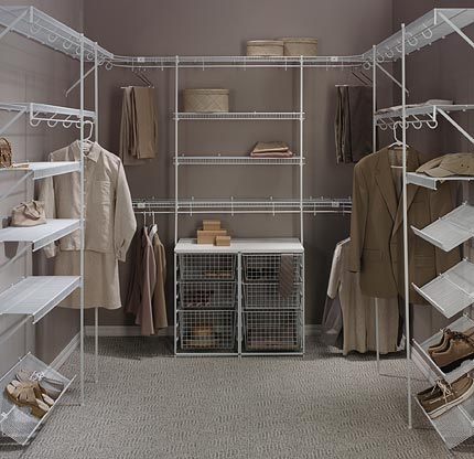 Wire Shelving And Wood Shelving Closet Westchester